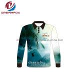 Custom Sublimation Manchon long Tournoi de pêche Polo Shirt