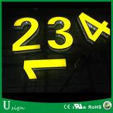 상점 (목록으로 만들어지는 CE/UL/RoHS)를 위한 옥외 & 실내 이용된 광고 채널 편지