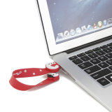 O inverno Bonitinha Bracelete Boneco de Pen Drive Pulseira PVC Unidade Flash USB 2.0