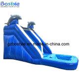 イルカ水プールのスライド価格の膨脹可能な水スライド