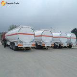 3 차축 60000L 스테인리스 연료 유조 트럭 트레일러/연료 수송 유조선