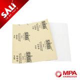 Новый приезжанный бумажный лист с различными песчинками