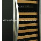 168bouteilles porte en verre transparent zone Doual construit en réfrigérateur à vin
