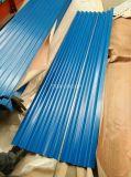 Le toit galvanisé couvre la tuile de toiture enduite par couleur ondulée de Gi/Gl