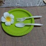 La fécule de maïs de la coutellerie jetable biodégradable Eco Friendly vaisselle dépliée