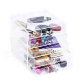 7 Organisator van de Kubus van de Make-up van de rij de Duidelijke Acryl Kosmetische