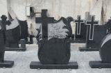Pietra tombale lucidata e spazzolata della traversa del granito della Romania Monumentfuneral