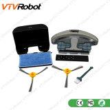 Померанцовый черный пылесос робота с мощными всасыванием и дистанционным управлением