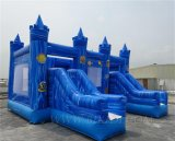 Castelo inflável do Bouncer do PVC com corrediça, casa Bouncy inflável combinado