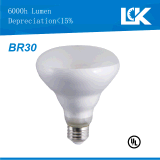 CRI90 8W 800lm Br30 nova espiral filamento da lâmpada da luz de LED