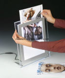 LED Table-Top Super delgado marco de fotos acrílico Caja de luz