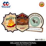 Etiqueta de marca comercial da indústria de corte da máquina de corte