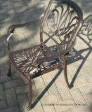 実用的な静止したアルミニウム椅子のテラスの家具
