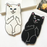 Cartoon Ripndip Senhor Nermal Pocket Gato caso de borracha de silicone para iPhone 6/6s/7plus