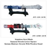 文字オープナの日本の武士のKatanaの剣のクラフトはメモする125