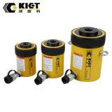 Vérin hydraulique simple effet du cylindre de piston creux