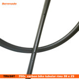 nuevo carbón ligero estupendo del borde de la rueda de la bici del camino del borde 700c de la bicicleta del camino 7-Tiger borde tubular del camino del remachador de 38 milímetros