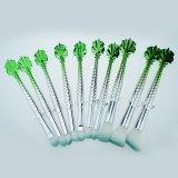 장식용 메이크업 10 피스는 물고기 테일 장비 분말 기초 아이섀도 Kabuki 윤곽선 혼합 연장 세트 녹색을 솔질한다