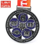 Comercio al por mayor de metal personalizados deporte medalla en la Artesanía de metal