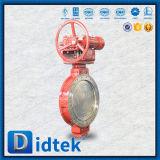 Válvula de mariposa rápida del alto rendimiento de la salida de Didtek con los actuadores del engranaje