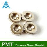 N35 de Magneet van het Neodymium van D12.5*D3.5*3.5 met Magnetisch Materiaal NdFeB