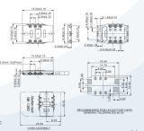 Contactdoos 6pin van de Kaart SIM Geen Schakelaar van het Type van Duw voor de Raad van PCB