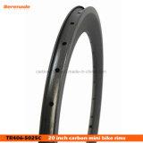 カーボン縁406 700c力の円の自転車の倍の壁の合金の車輪の縁テープ自転車