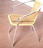 現代屋外アルミニウム藤の柳細工の金属フレーム棒椅子(LL-RST012)