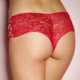 Кружевной укрепленой трусовой частью трусы популярных Plus размера XL-3XL Sexy женщин нижнее белье Sexy укрепленой трусовой частью