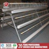 Cages de batterie de poulet de couche de bâti de H pour le matériel d'aviculture