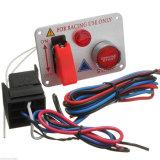 Coche de carreras de plata Contacto Panel de interruptor pulsador de arranque del motor Cambiar LED DE 12V