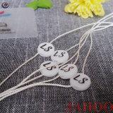Cadena de forma redonda Tagplastic sello en relieve etiquetas para prendas de vestir