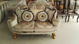 Sb56 de madera maciza estilo real clásico Sofá de tela