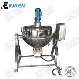 電気調理のやかんの蒸気のJacketedやかんを傾けるステンレス鋼