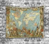 가정 훈장 (01P0005)를 위한 디지털에 의하여 인쇄되는 문화 세계 지도 태피스트리