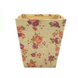 Flor de la cuchara de personalización de la Caja de regalo papel tela