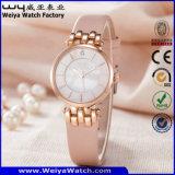 Montre-bracelet de dames de quartz de courroie en cuir de mode d'ODM (Wy-121E)
