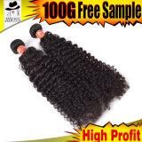 cabelo 100%Natural do cabelo brasileiro por atacado do Virgin