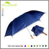 Form reizvolle fördernde automatische 2 falten Sonnenenergie-Regenschirm
