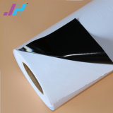 Semi-Removable claro blanco brillo Vinilo autoadhesivo PVC