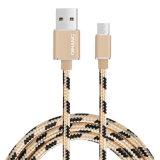 2A нейлоновой оплеткой быстрый мобильный телефон кабель USB для ОС Android для мобильных ПК