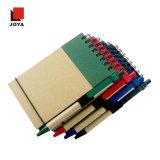 Caderno espiral colorido do papel do amarelo do forro dos presentes novos da promoção