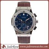 熱い販売の本革の水晶腕時計、男性用水晶腕時計