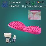 El yeso hace el silastic a mano RTV-2 para la única fabricación del molde del zapato