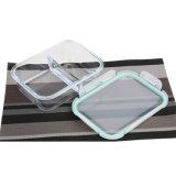 Viereck 2 - Teiler-Fach GlasBento Mittagessen-Behälter mit dem Sperrung der Kappe