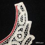25*24cm hanno tinto all'ingrosso il testo fisso solubile in acqua Hm2016 del collare del merletto del Neckline della camicetta del ricamo di ultimo del collo del Crochet dell'annata del collare motivo popolare del merletto