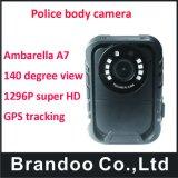 Cámara desgastada carrocería usable de la policía con GPS Funciton, cámara portable de DVR con 16g/32g/64G/128g opcional
