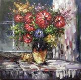 ホーム装飾のためのハンドメイドの重油の花の油絵