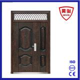 Porte extérieure de garantie d'entrée de fer de Fils-Mère en acier de porte