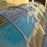 A tampa nadadora dos pobres do policarbonato Anti-UV/encerra a folha